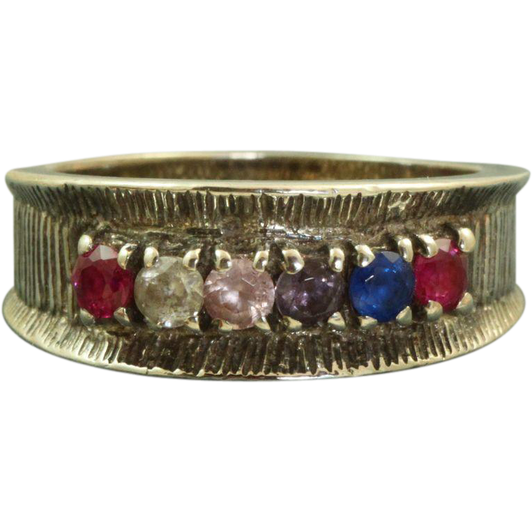 Estate Sterling Semi-Precious Stone Ring