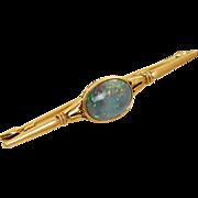 SALE 18 K @2 CT French Black Opal Brooch