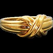 Retired Estate 1990 Tiffany 'X' Ring