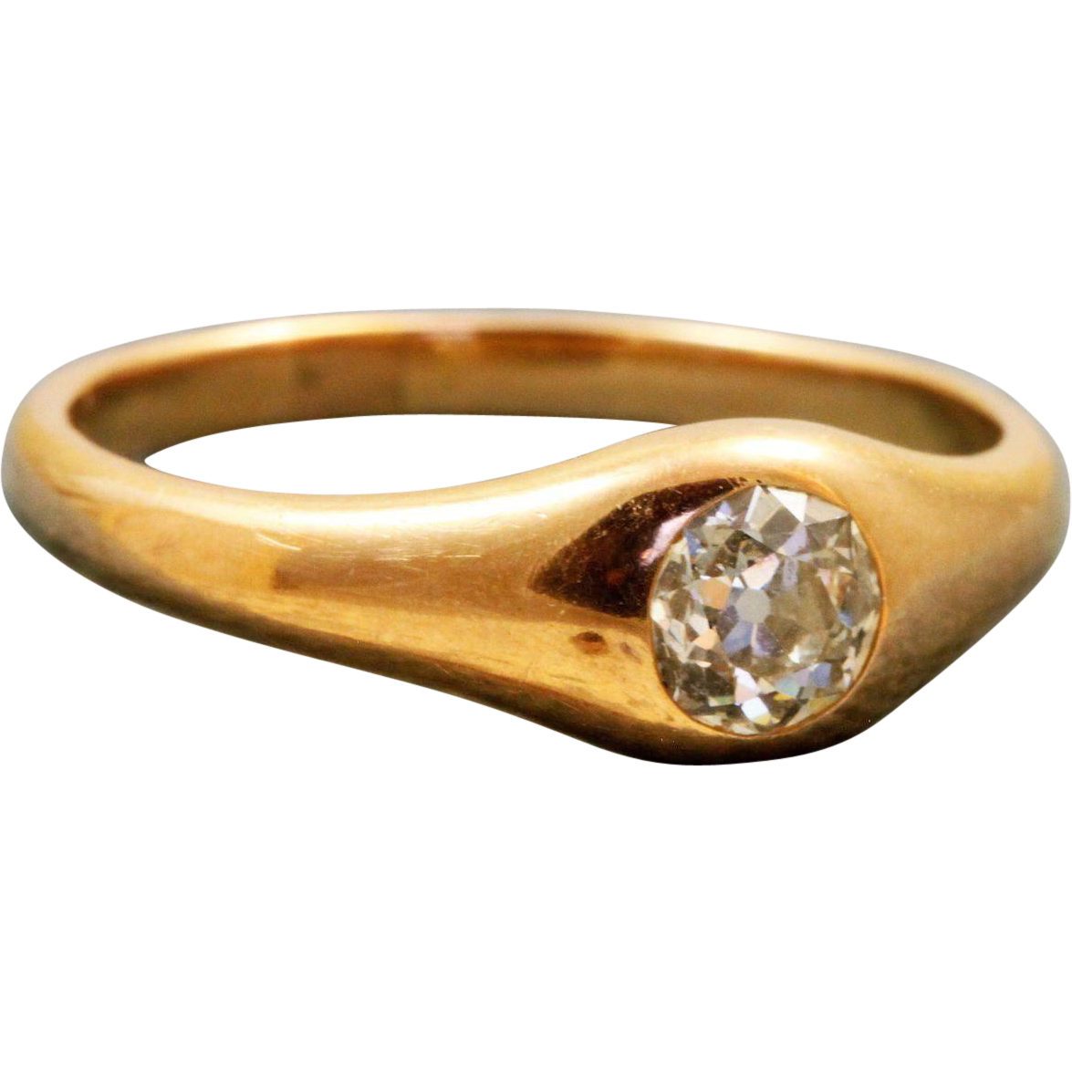 Estate 18 K Tiffany & Co Old European Cut Diamond Ring