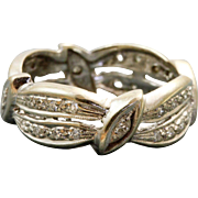 Estate 14 KW 1950's Swirl Diamond Eternity Band