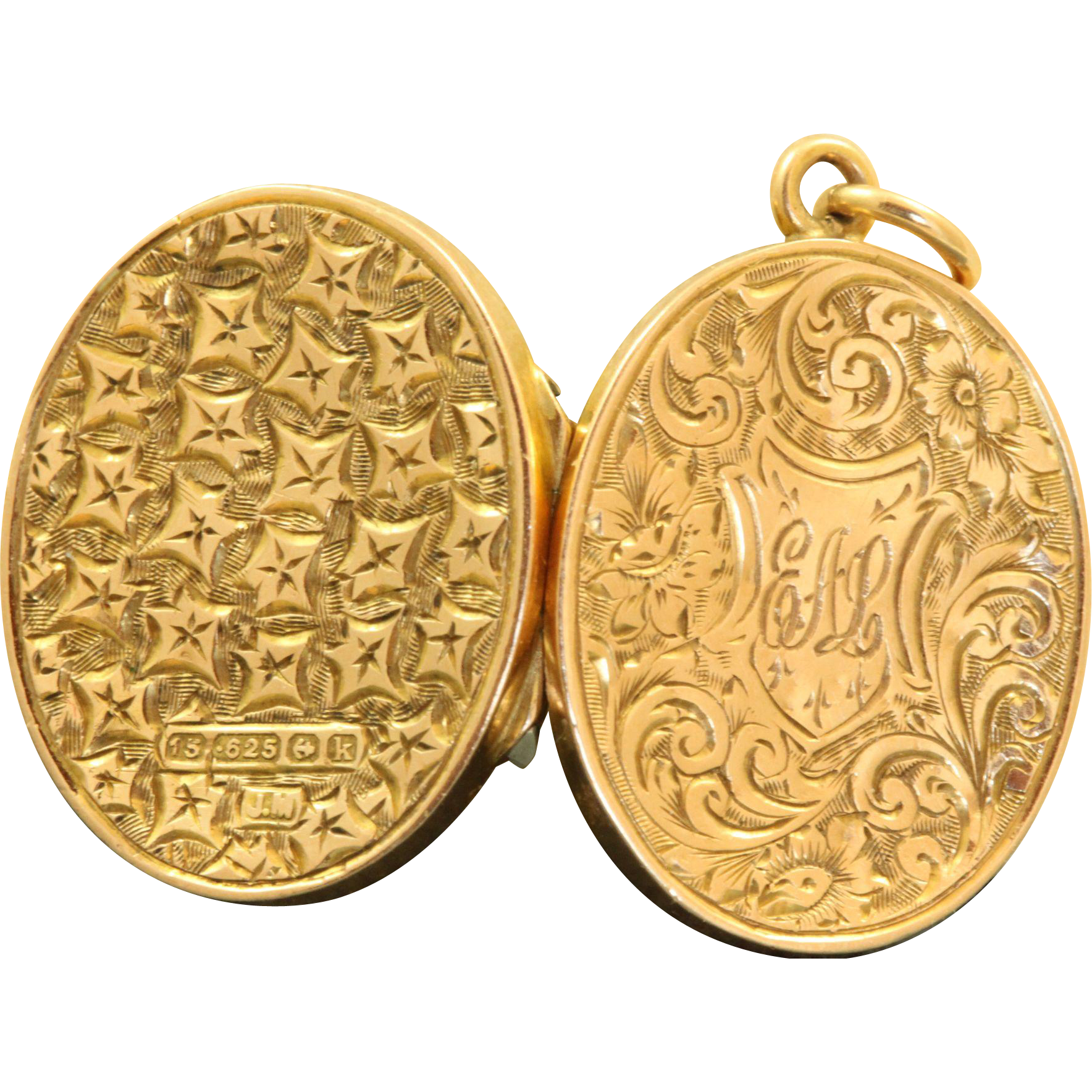 15 CT Locket Birmingham 1909