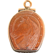 Early 20th Century 10 K Horseshoe Locket