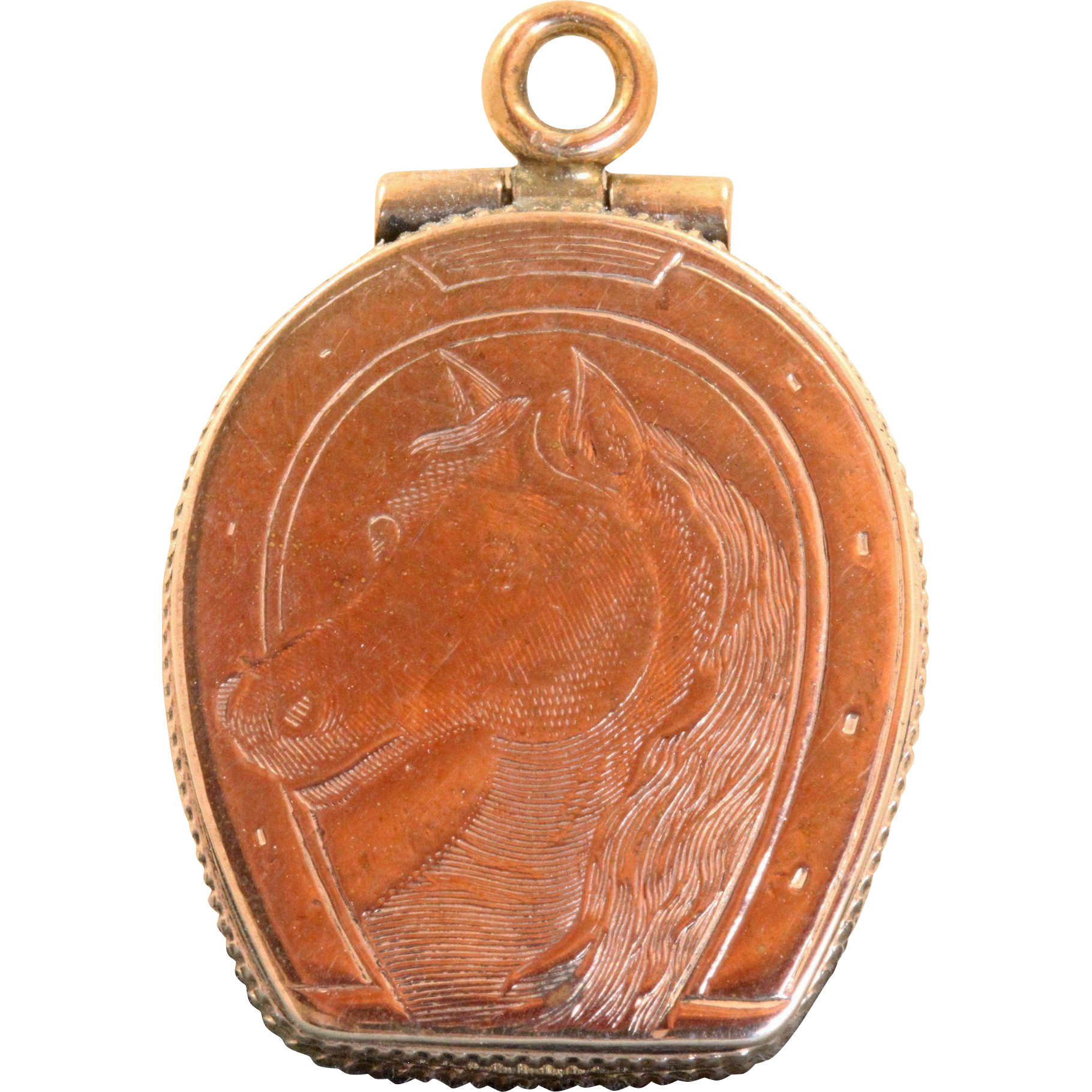 Early 20th Century 10 K Horseshoe Locket