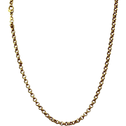 "Estate 18 K Gold 21"" Belcher Chain"