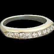 Estate 900 Platinum 0.48 CT Diamond Band