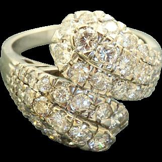 Estate 18 KW Diamond Dinner Ring