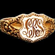 Estate 14 K Gold Signet Ring