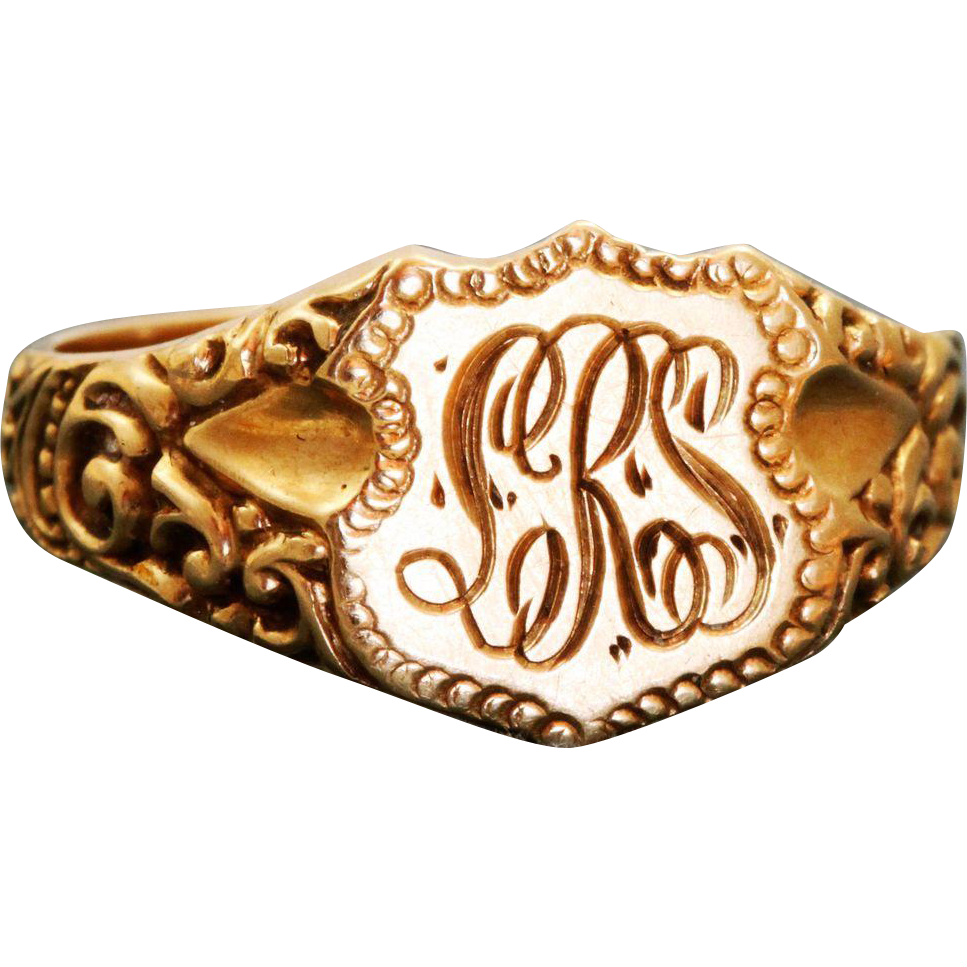 Estate 14 K Gold Signet Ring