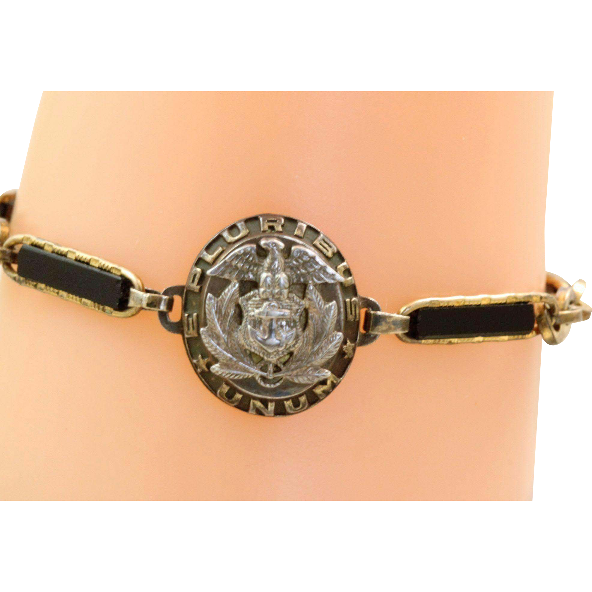 US Marine Gold Filled Keepsake Bracelet @1940