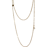 "Estate 48"" 10 K Long Chain with Marcasite Slide"