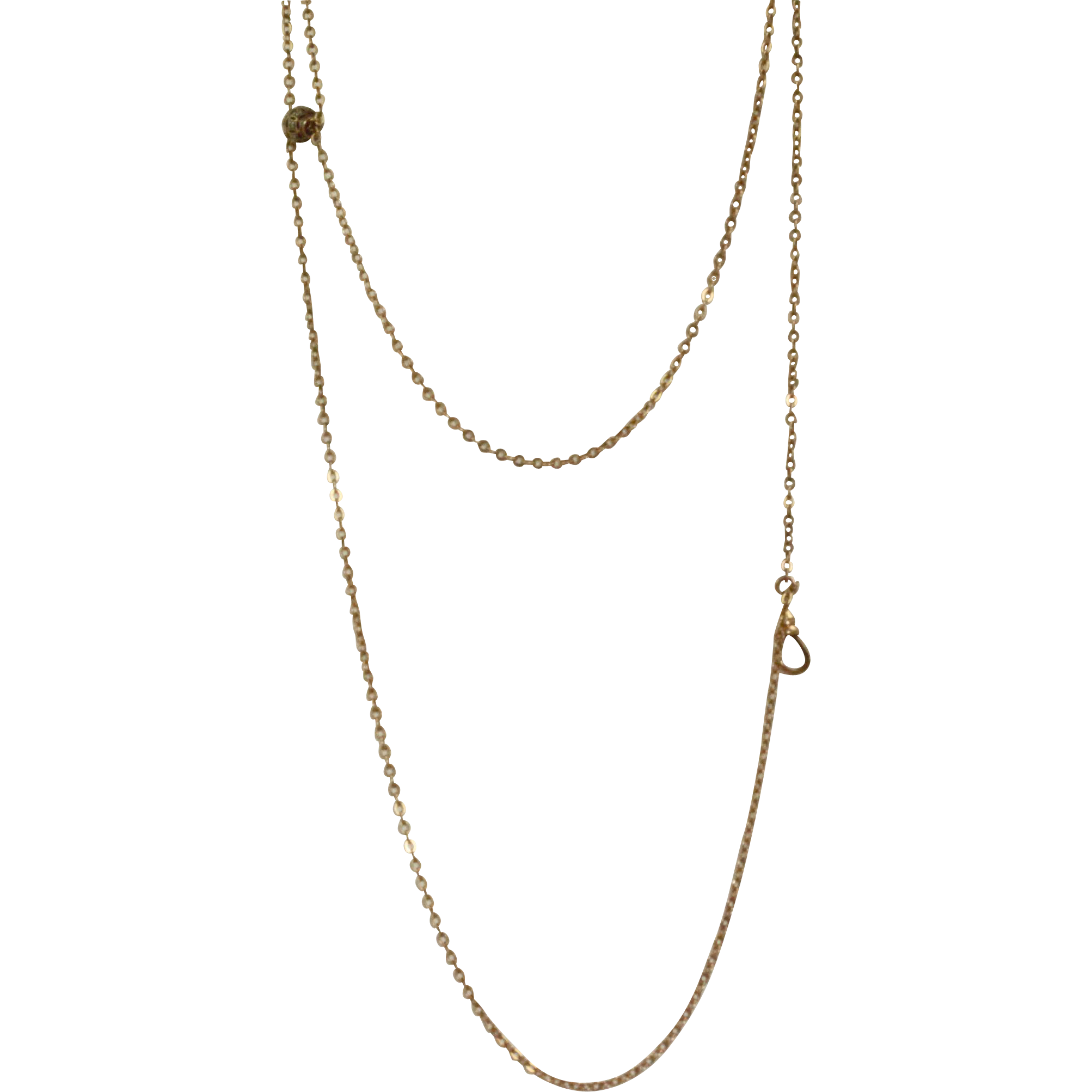 """Estate 48"""" 10 K Long Chain with Marcasite Slide"""