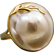 Estate 14 K Mabe Pearl Ring
