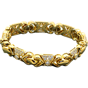 Estate 18 K 6.8 CT Diamond Bracelet