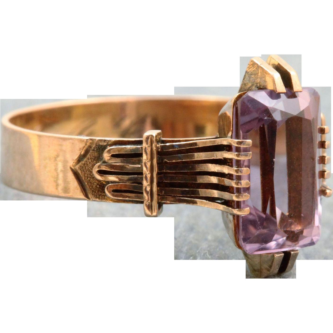 14 K Victorian Amethyst Ring