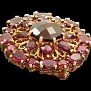 Estate 10 K Garnet and Rhodolite Garnet Pin/Pendant