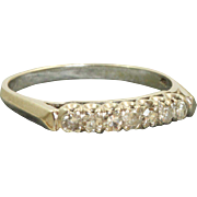Estate 14 K 0.25 CT Diamond Band