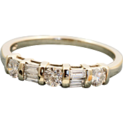Estate 14 K Mixed Cut 0.60 CT Diamond Band