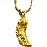 Estate 22-24 K Gold Nugget Pendant