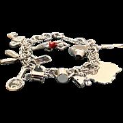 1950's Sterling Charm Bracelet