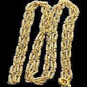 """Vintage 14 K 30"""" Paper Clip Chain"""