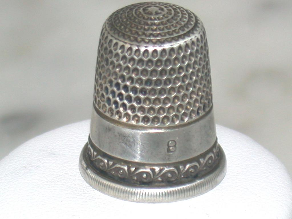 Vintage sterling size 8 thimble from emilysattictreasures for The sterling