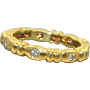 Estate 18 K 0.25 CT Diamond Eternity Band