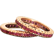 14 K Rose Gold Retro Ruby Guards