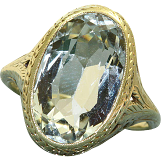 Estate 14 K 8.5 CT Aquamarine Ring