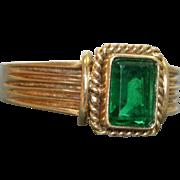 Estate 14 K 1 CT Green Tourmaline Ring