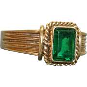 Estate 14 K 1 CT Green Tourmaline Ring