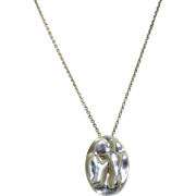 Estate Sterling Perretti Gemini Necklace