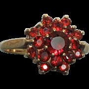1902 Birmingham 9C Rose Cut Bohemian Garnet Ring