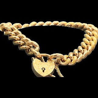 Edwardian 9 C Heart Bracelet @1901 Birmingham