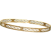 Vintage 14 K Carter Gough & Co Detailed Bangle