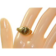 Estate 18 K Cat's Eye Ring