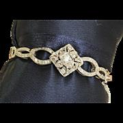 Estate 14 K 2 CT+ Diamond Bracelet