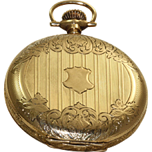 14 K 1907 Waltham Hunter Case Pocket Watch
