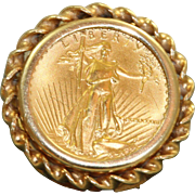 Estate 1987 $5 US  Gold Eagle Coin Ring