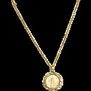 Estate 1986 $10 US Eagle Coin Necklace