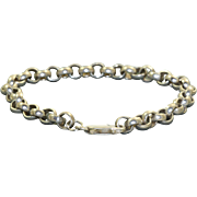 Estate Sterling Silver Rolo Bracelet