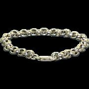 Estate Sterling Silver Rolo Bracelet