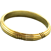 Estate 14 K Grooved Gent's Band