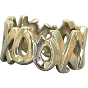 Estate Sterling Paloma Picasso XXOO Love Ring