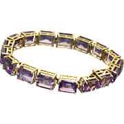 Estate 34 CT Amethyst Tennis Bracelet
