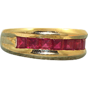 Estate 14 K Ruby Band Ring