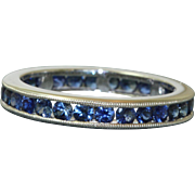 Estate Platinum 1 CT Sapphire Eternity Band