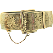 Vintage Sterling Marsh Belt Buckle Bracelet