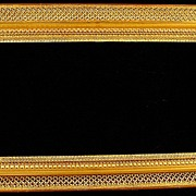Antique Gold Gilt & Gesso Landscape Fancy Picture Frame