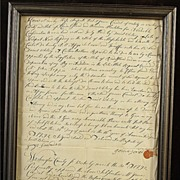 Hand Written Letter From 1792 Revolutionary War Veteran From Rhode Island